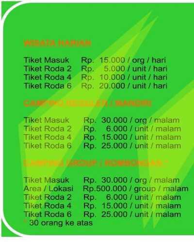 harga tiket Green Grass Cikole Lembang