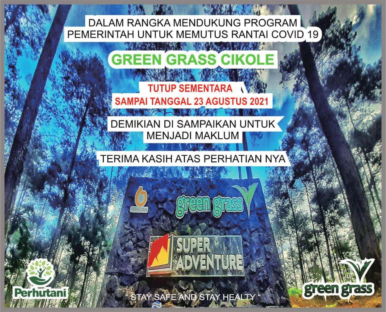 Green Grass Cikole Lembang tutup Sementara