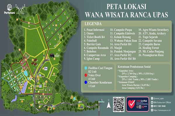 peta lokasi Ranca Upas
